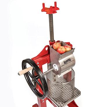 top of cider press