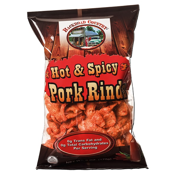 hot and spicy pork rinds
